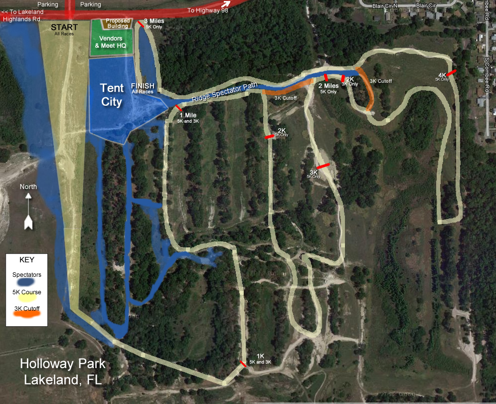 New XC Course In Lakeland Holloway Park Nears Opening Day - Florida map lakeland fl