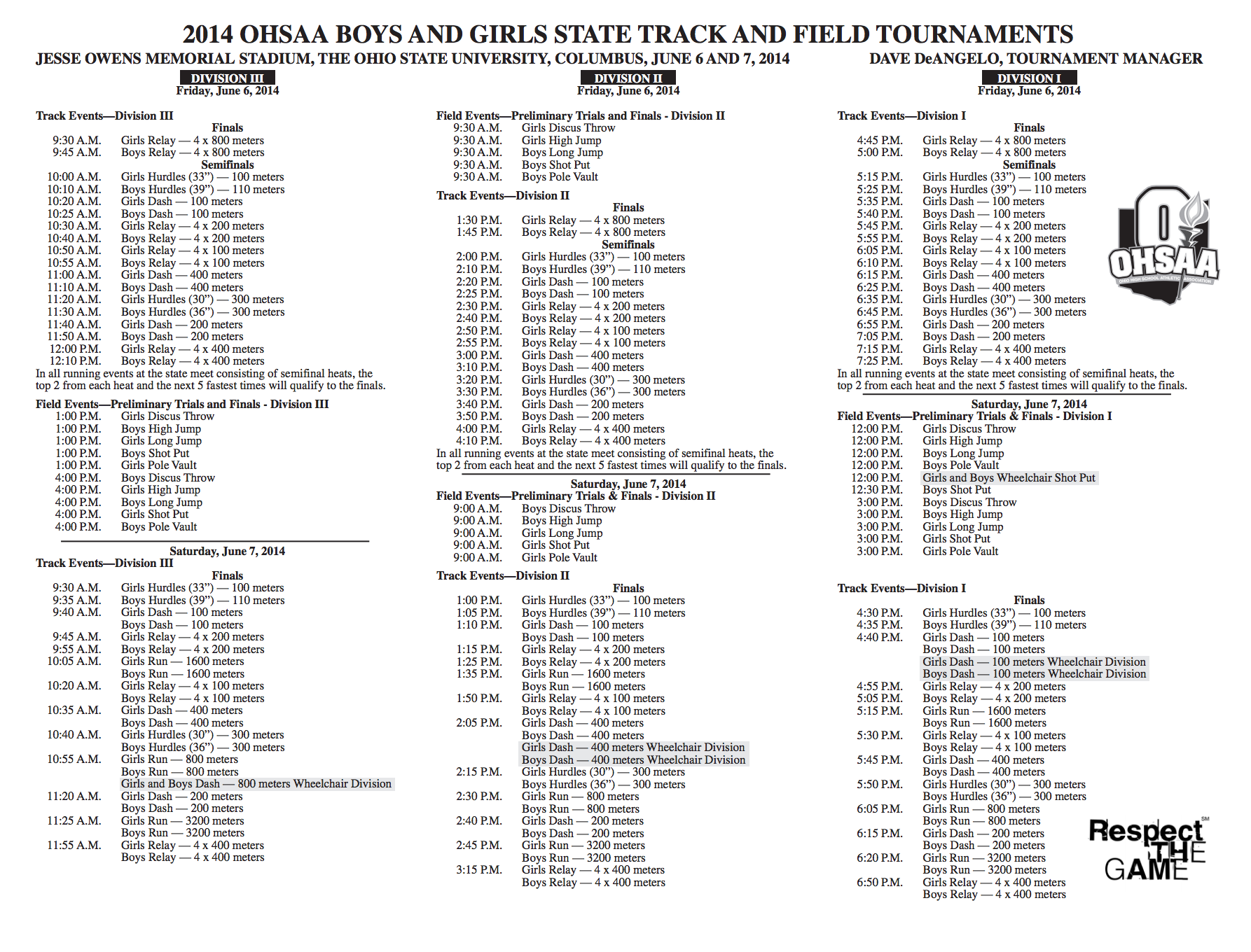 2015 ohio state track and field meet