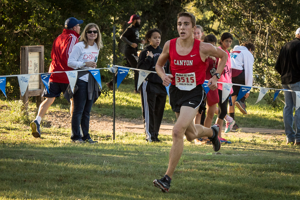 Alex Rogers of New Braunfels Canyon won the boys race in 15:12 to run ...